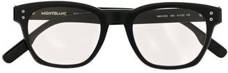 Montblanc Tinted Square-Frame Sunglasses
