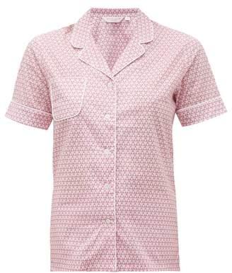 Derek Rose Ledbury 27 Geometric Print Cotton Pyjamas - Womens - Pink