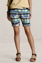 Women's Plaid Bermuda Shorts