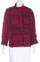 Tory Burch Tweed Snap Jacket