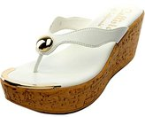 Callisto Women's Button Wedge Sandal
