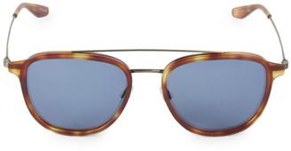 Barton Perreira Courtier 55MM Round Navigator Sunglasses
