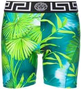 Versace leaf print cycling shorts