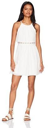 Amy Byer A. Byer Women's Halter Popover Illusion Waist Dress