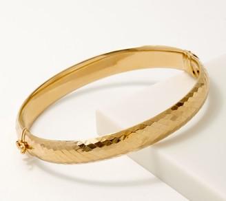 Gold One 1K Gold Diamond Cut Hinged Bangle, Large