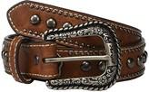Ariat Embossed Belt w/ Heart Conchos (Little Kids/Big Kids) (Brown) Women's Belts