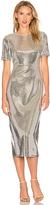 Diane von Furstenberg Sequin Dress in Metallic Silver