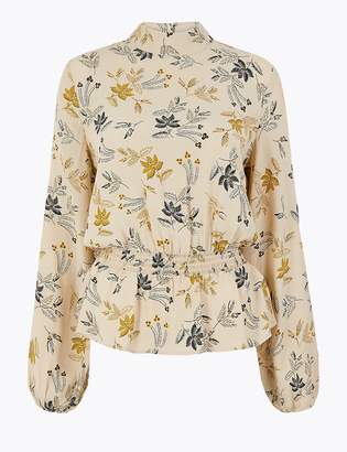 Marks and Spencer Printed Waisted Blouse