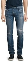 Hudson Axl Rip & Repair Skinny Jeans, Blue