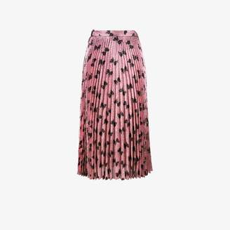 Gucci Iridescent bow lurex pleated skirt
