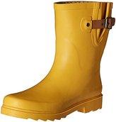 Chooka Women's Top Solid Mid Rain Boot, Midnight, 9 M US