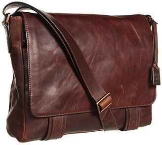 Frye Logan Messenger (Dark Brown Antique Pull Up) Messenger Bags
