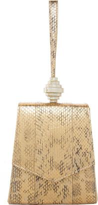 Rafe Vania Metallic Snake Wristlet Clutch Bag