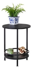 Honey-Can-Do 2-Tier Round Side Table
