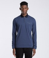 Ted Baker Pikasso Long Sleeve Textured Polo Shirt