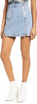 4SI3NNA the Label Royce Denim Miniskirt