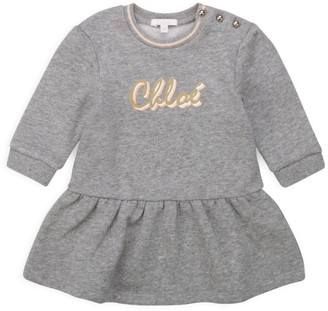 Chloé Baby's & Little Girl's Long-Sleeve Logo Dress