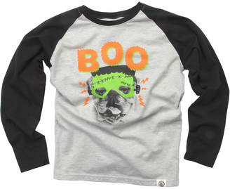 Wes And Willy Boo Bull Dog Raglan T-Shirt