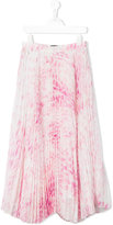 Roberto Cavalli printed pleated skirt - kids - Polyester/Acetate/Cupro - 8 yrs