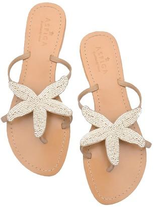 Aspiga Starfish Sandals White