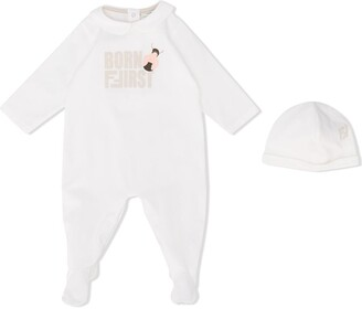 Fendi Kids Pajama And Hat Set