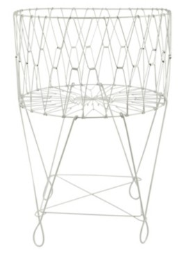 St. Croix Kindwer Large Vintage Wire Laundry Basket Hamper