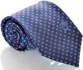 Versace Mens Polka Dot Woven Silk Necktie Blue