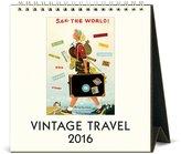 Cavallini & Co. CAL16-4 2016 Vintage Travel Desk Calendar