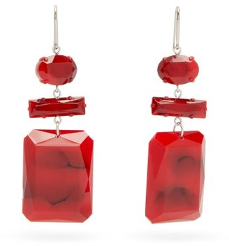 Isabel Marant Carved-resin Drop Earrings - Red