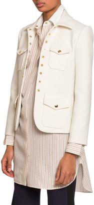 Chloé Snap-Front 4-Pocket Jacket