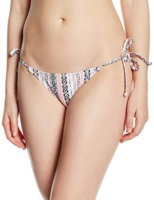 New Look Women's Aztec Side Tie String Aztec Bikini Bottoms