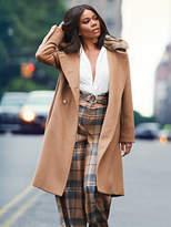 New York & Co. 7th Avenue - Faux-Fur Trim Wool Coat