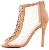 Charlotte Russe Qupid Laser Cut Peep Toe Dress Sandals