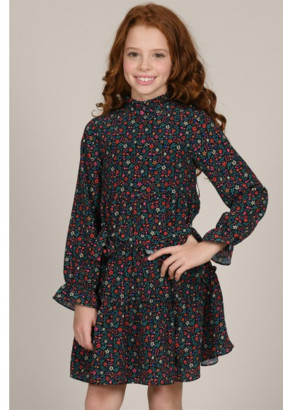 Mini Molly - Flowery Collar Flying Dress - 4-6Y