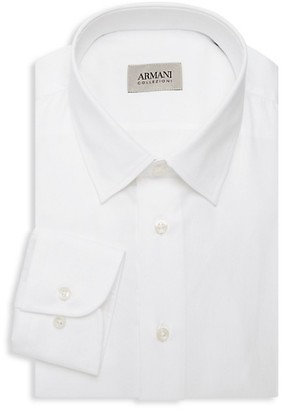 Armani Collezioni Solid Dress Shirt