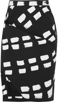 Vivienne Westwood Accident Printed Stretch-cotton Twill Skirt - Black