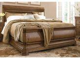 Universal Furniture Pennsylvania House Louie P's Cognac Sleigh Bed