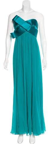 Marchesa Silk Evening Dress