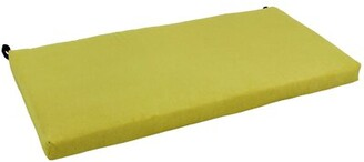 Mojito Winston Porter Microsuede Indoor Bench Cushion Winston Porter Fabric Lime