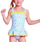 Perfashion Toddler Girls Multi-Layer Swimsuit Pink 4 Years