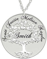 JCPenney FINE JEWELRY Sterling Silver Family Tree Name Pendant Necklace