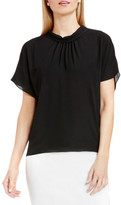 Vince Camuto Shirred Mock Neck Blouse