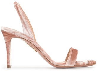 Aquazzura velvet So Nude 85mm sandals