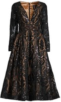 Thumbnail for your product : Mac Duggal Sequin Embroidered A-Line Dress