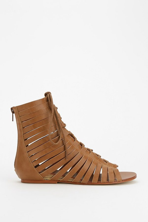 N.Y.L.A. Lace-Up Caged Sandal