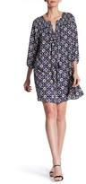 Daniel Rainn Tassel Tie Print Dress