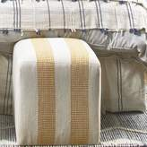 Imagine Home Azur Cube Ottoman Upholstery Color: Gray/Natural Stripe
