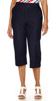 Alfred Dunner All Aboard Pull-On Capri Pants
