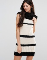 Lavand Striped Rollneck Sweater Dress
