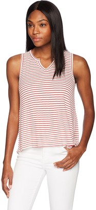 Three Dots Women's Hyannis Stripe Loose Short Shirt